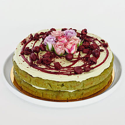 Matcha Sour Cherry Cake: Valentine's Day Gifts to NZ