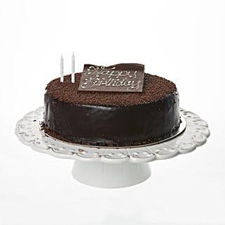 Rocket Kitchen Happy Birthday Chocolate Decadence Cake 9 Inch