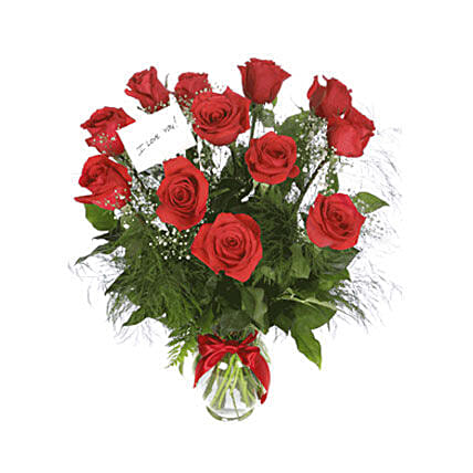 Scarlet Elegance: Send Congratulations Flowers to Oman