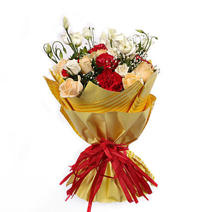 Bouquet Of Gleaming Romance: Congratulations Flowers to Oman