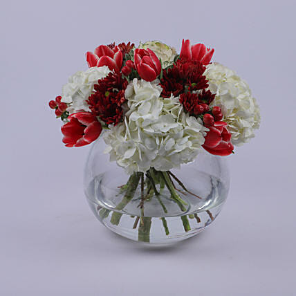 Floral Bowl Of Eternal Love: Send Flower Bouquets to Oman