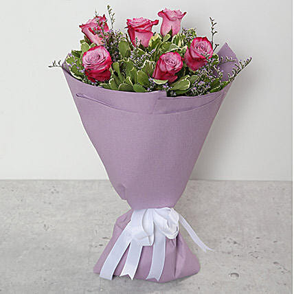 Bouquet Of Purple Roses OM: Send Gifts to Suhar