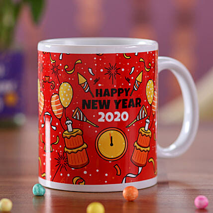 New Year Party Time Printed Mug: Gift Discount for Oman