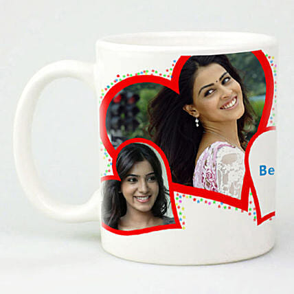 Red Hearts Personalized Mug: Gift Delivery in Pakistan