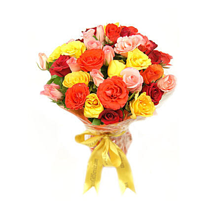Sunset Roses Bouquet: Gift Delivery in Pakistan