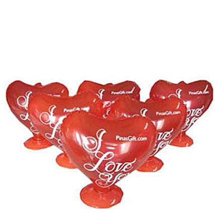 Heart Baloons: Congratulations Flowers to Philippines