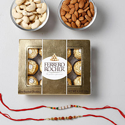 Crunchy And Yummy Rakhi Combo: Rakhi for Brother in Philippines