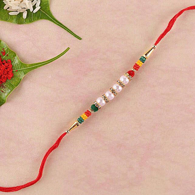 Colourful Lively Beads Rakhi: Single Rakhi Delivery in Philippines
