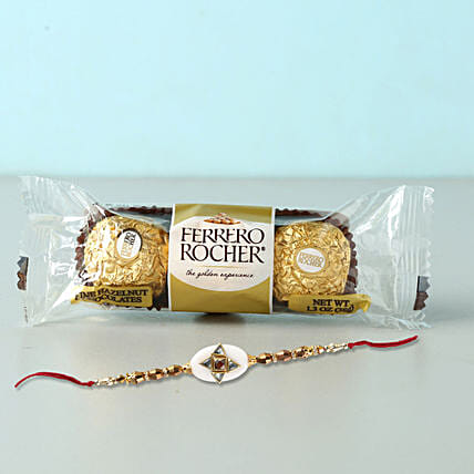 Stylish Rakhi And Rocher Combo: Rakhi for Brother in Philippines