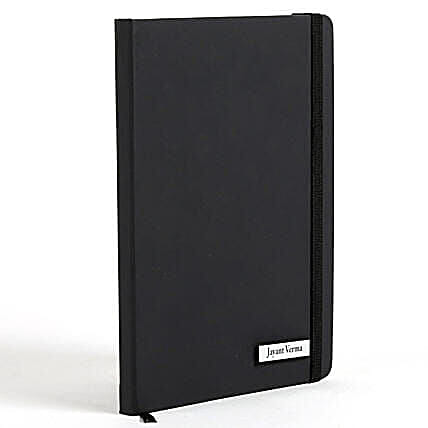 Personalized Black Notebook: Send Bhai Dooj Gifts to Philippines