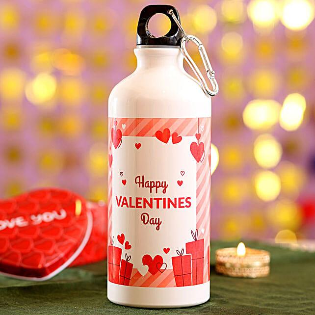 Valentines Greeting Water Bottle: