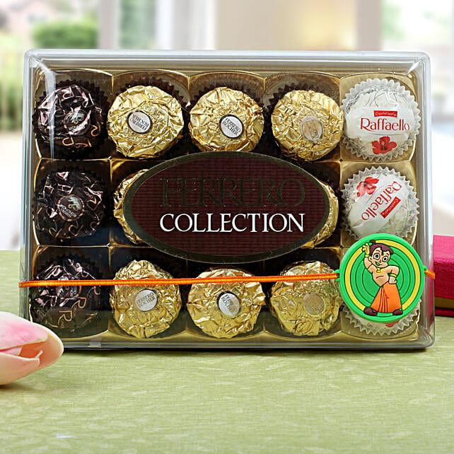 Chota Bheem With Ferrero Rocher Chocolates: Rakhi Delivery in Portugal