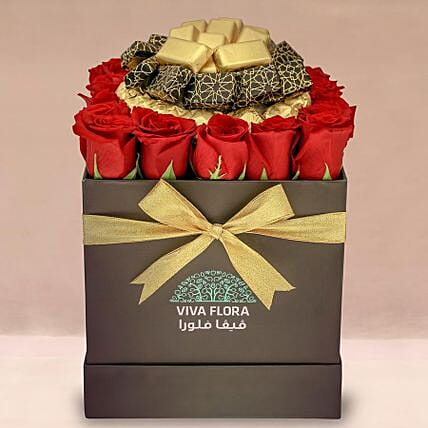 Love Roses With Scrumptious Chocolates: Send Valentines Day Gifts to Qatar