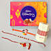 chocolate celebration box with family rakhi set online