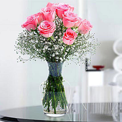 Glorious 12 Pink Roses: Same Day Gift Delivery in Saudi Arabia