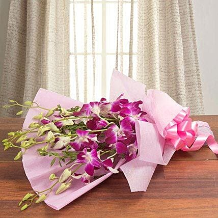 Splendid Purple Orchids: Same Day Gift Delivery in Saudi Arabia
