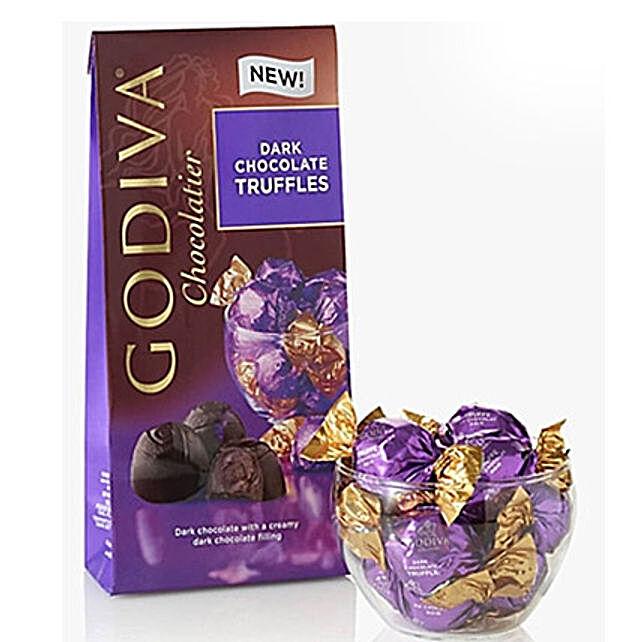 Godiva Dark Chocolate Truffles: Rakhi Gifts for Sister to Saudi Arabia
