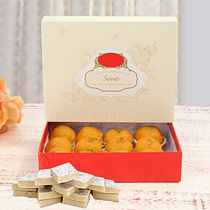 Moti Choor Laddoo with Kaju Katli Combo: Gifts Offers - Singapore