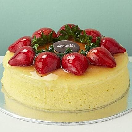 Strawberry Cheesecake: Send Christmas Cakes to Singapore