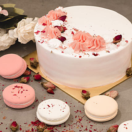 5in Round Red Forest Cake: Christmas Cakes to Singapore