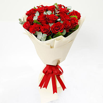 Timeless 20 Red Roses Bouquet: Roses To Singapore