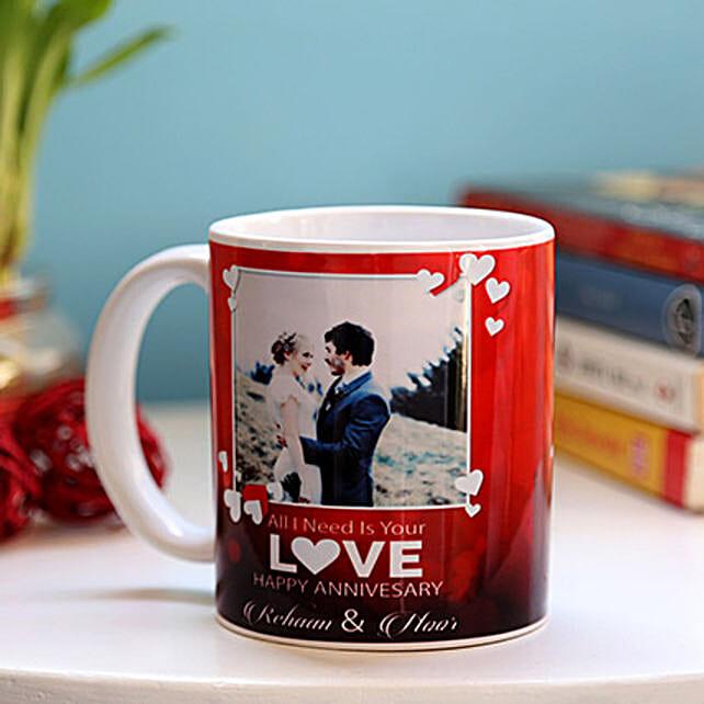 Personalised Anniversary Love Mug: