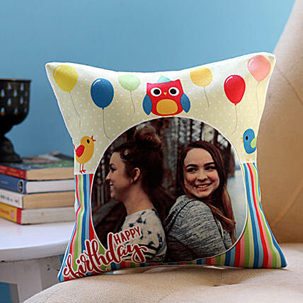 Personalised Colourful Birthday Cushion: Personalised Gifts to Singapore