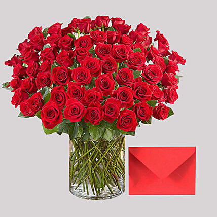 Romantic Roses and Greeting Card: Gift Combos to Singapore