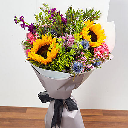 Bouquet Of Vibrant Flowers: New Arrival Gifts Singapore