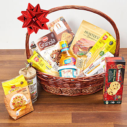Healthy Gluten Free Basket: Xmas Gift Baskets to Singapore