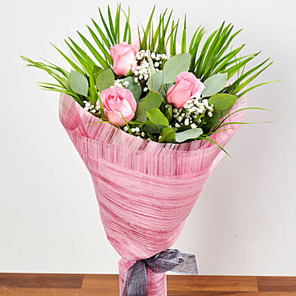 Splendid Pink Rose Bouquet: New Arrival Gifts Singapore
