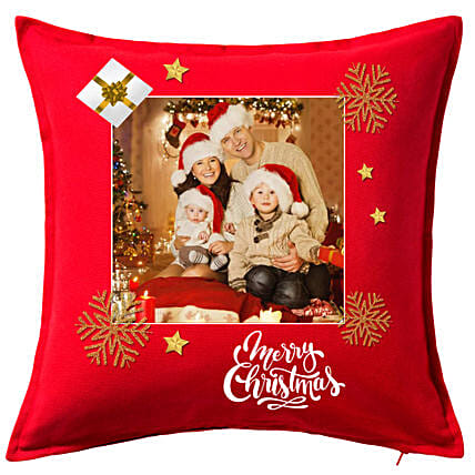 Personalised Xmas Greetings Cushion: Christmas Gift Delivery Singapore