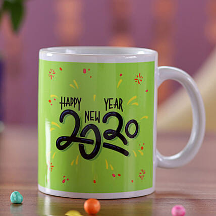 New Year Greetings Green Mug: Gifts for Kids in Singapore