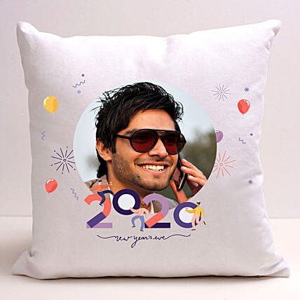 Personalised New Year Greetings Cushion: Send New Year Gifts to Singapore
