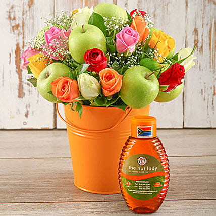 Super Sweet Mixed Rose And Honey Arrangement: Send Mothers Day Gifts to South Africa