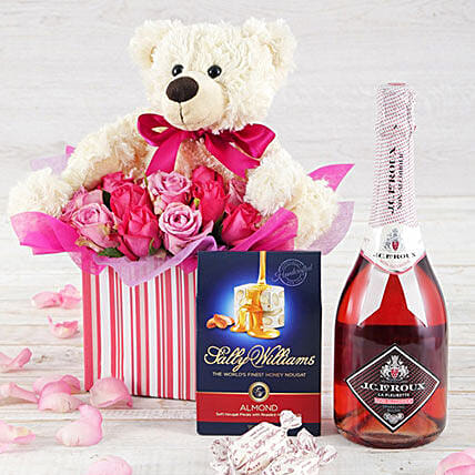 Teddy And Treat Hamper: Get Well Soon Gift Delivery South Africa