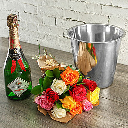 Mixed Roses Jc Le Roux And Ice Bucket: Send Valentines Day Roses to South Africa