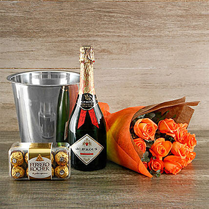 Orange Passion Gift Of Romance: Send Get Well Soon Gifts to South Africa