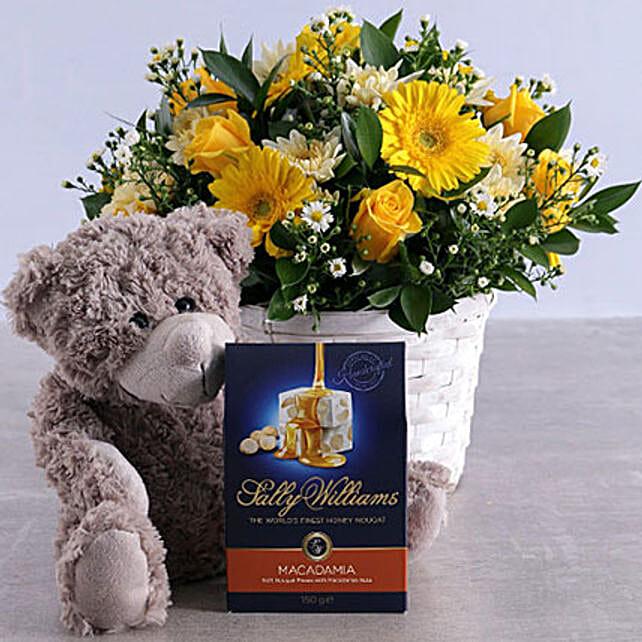 Golden Flower Hamper: Send Chocolate to South Africa