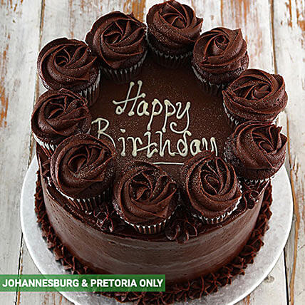 Chocolate Party Cake: Corporate Hampers to South Africa
