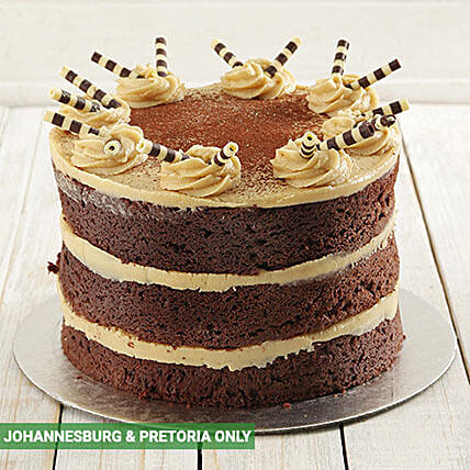 Coffee and Chocolate Naked Cake 20cm: Send Valentines Day Cakes to South Africa