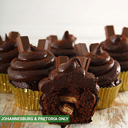 Decadent Kit Kat Filled Cupcakes: New Year Cake Delivery in South Africa