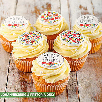 Happy Birthday Cupcakes for Her: Send Valentines Day Cakes to South Africa