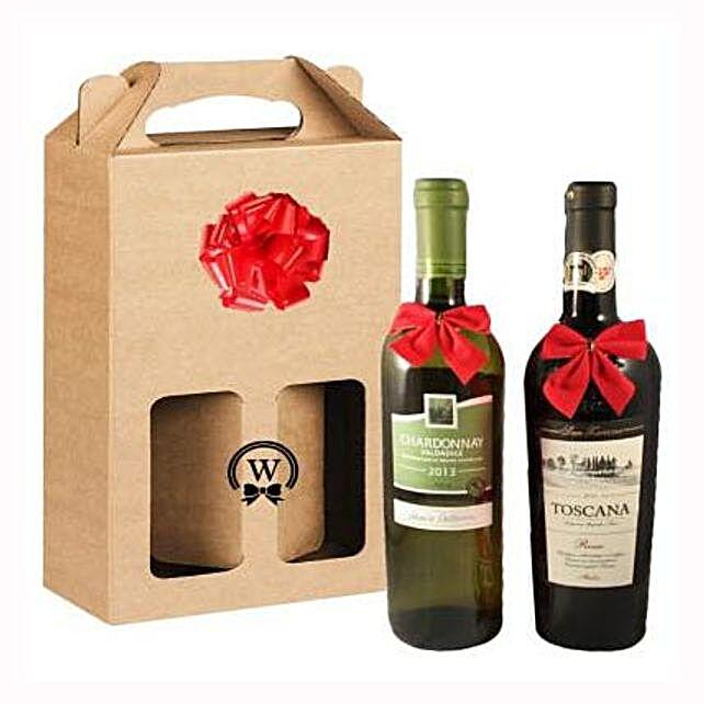 Classic Dual Italian Wines: Corporate Hampers to Spain