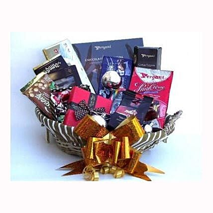 Holiday coffee and Sweets Gift Basket: