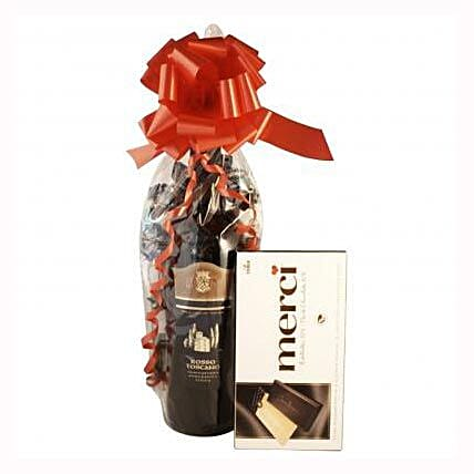 Red Wine and Chocolate: Send Gifts to Switzerland
