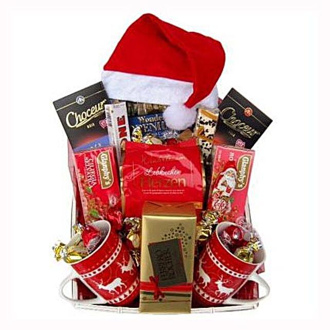 Santa Christmas Tea Basket: Gift Delivery in Switzerland
