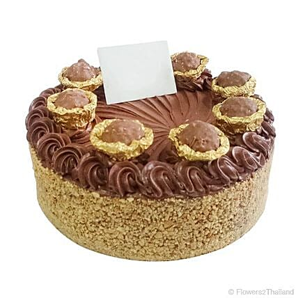 Flavourful Ferrero Gold Birthday Cake: Send Valentines Day Cakes to Thailand