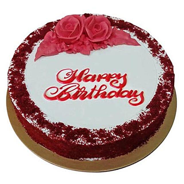Red Velvet Birthday Cake Gift Delivery In UAE