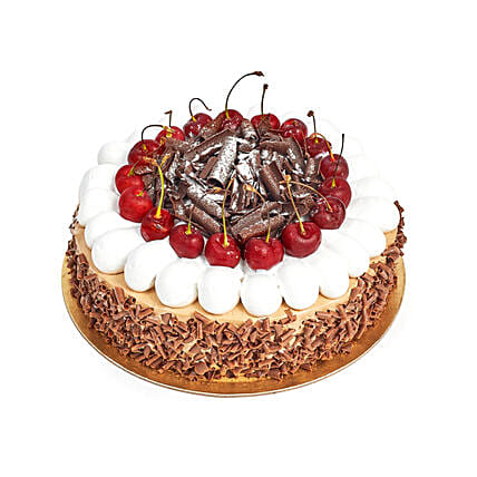 4 Portion Blackforest Cake: Half Kg Cake Delivery in UAE